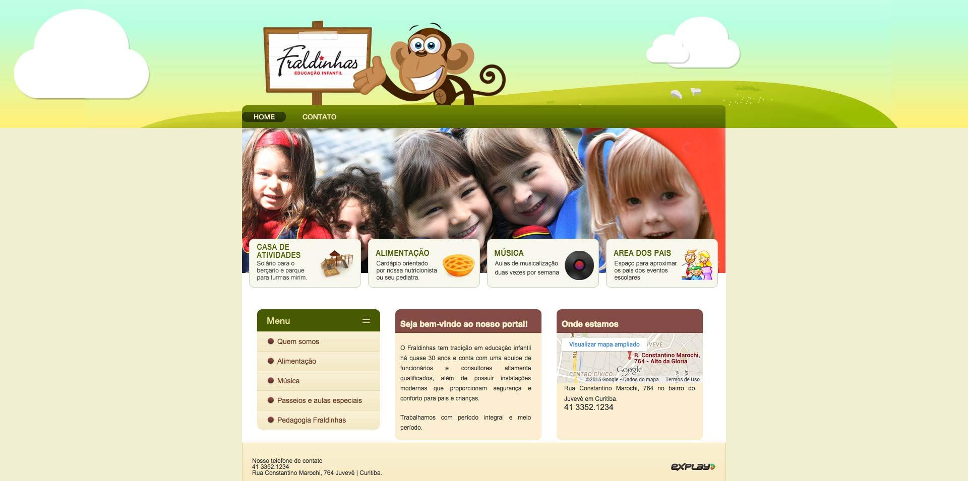 Fraldinhas - Site desenvolvido por Explay