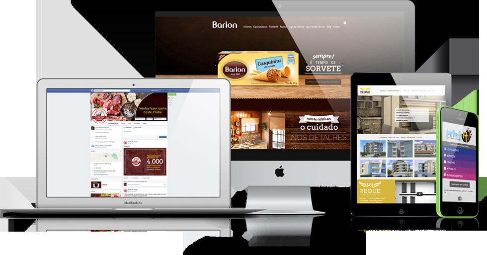 Agência Digital Explay - Exemplos de sites para desktop, mobile e gestão de Fanpages.